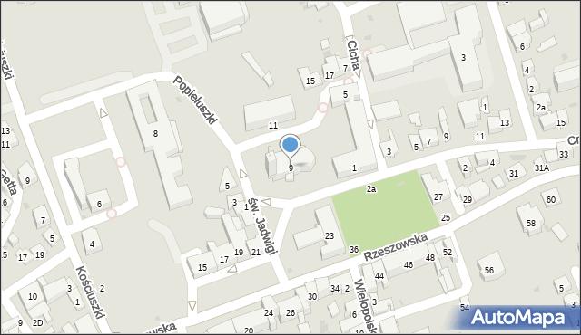 Dębica, św. Jadwigi, 9, mapa Dębicy
