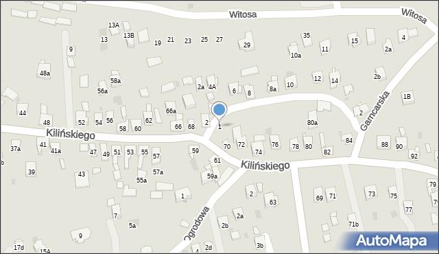 Dobczyce, św. Anny, 1, mapa Dobczyce
