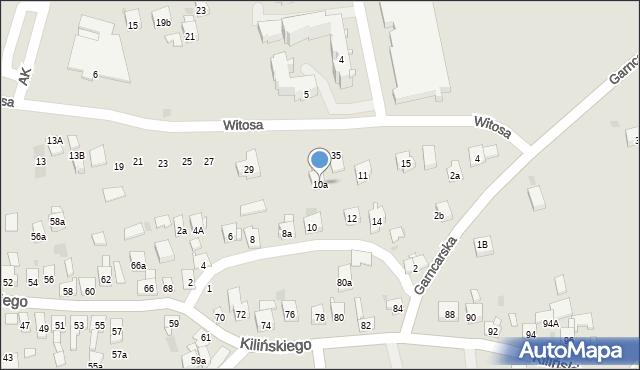 Dobczyce, św. Anny, 10a, mapa Dobczyce
