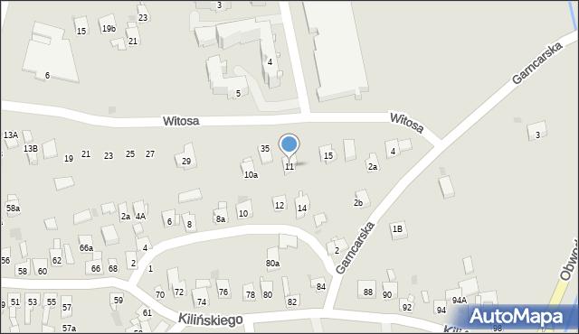 Dobczyce, św. Anny, 11, mapa Dobczyce