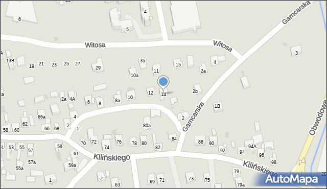 Dobczyce, św. Anny, 14, mapa Dobczyce