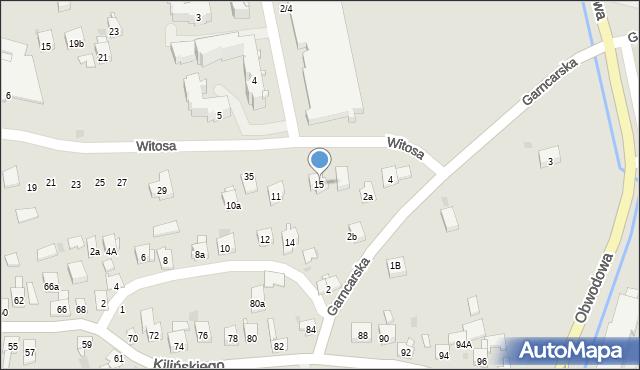Dobczyce, św. Anny, 15, mapa Dobczyce