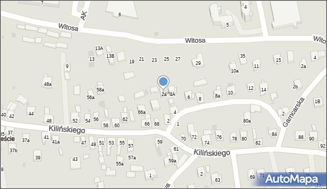 Dobczyce, św. Anny, 2a, mapa Dobczyce