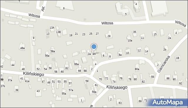 Dobczyce, św. Anny, 4A, mapa Dobczyce