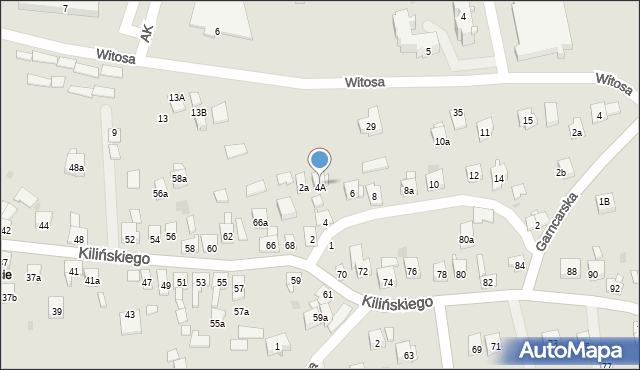 Dobczyce, św. Anny, 4c, mapa Dobczyce