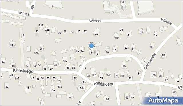 Dobczyce, św. Anny, 6, mapa Dobczyce