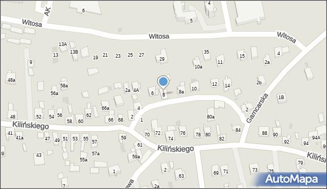 Dobczyce, św. Anny, 8, mapa Dobczyce
