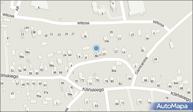 Dobczyce, św. Anny, 8a, mapa Dobczyce