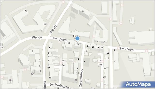 Gdynia, św. Piotra, 19, mapa Gdyni