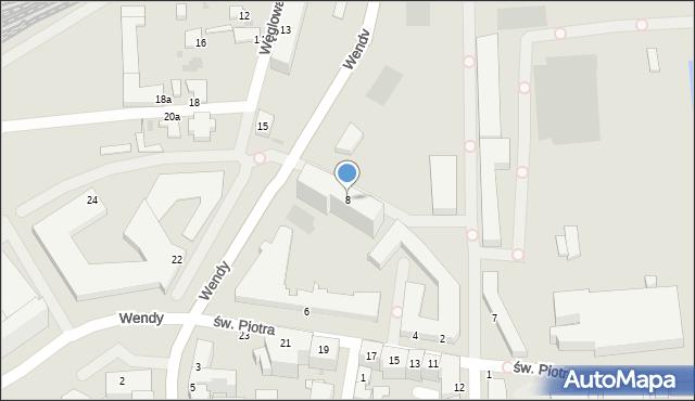 Gdynia, św. Piotra, 8, mapa Gdyni