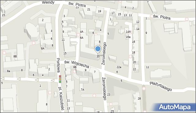 Gdynia, św. Wojciecha, 10b, mapa Gdyni