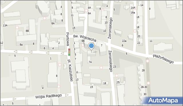 Gdynia, św. Wojciecha, 11, mapa Gdyni