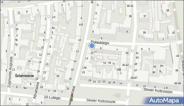 Gdynia, Świętojańska, 11a, mapa Gdyni