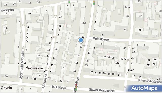 Gdynia, Świętojańska, 12, mapa Gdyni
