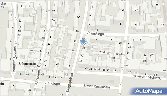Gdynia, Świętojańska, 13, mapa Gdyni