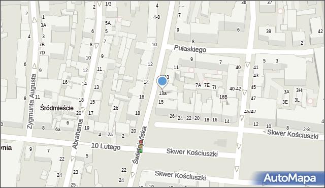 Gdynia, Świętojańska, 13a, mapa Gdyni