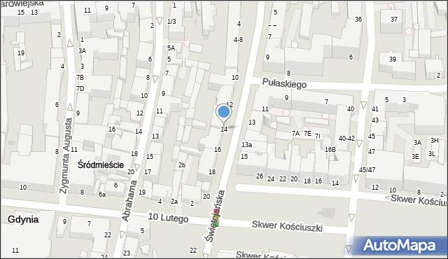 Gdynia, Świętojańska, 14, mapa Gdyni
