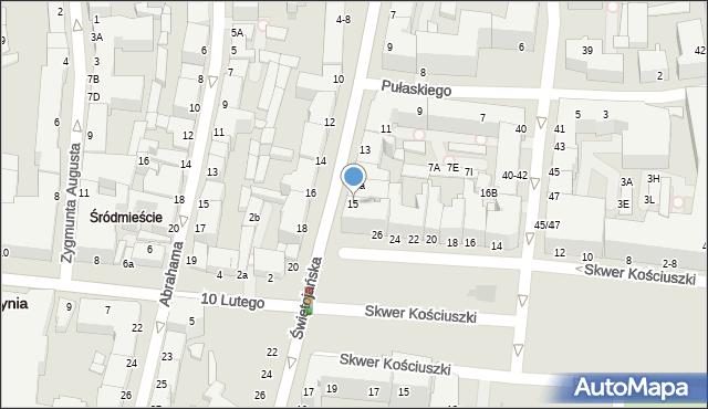 Gdynia, Świętojańska, 15A, mapa Gdyni