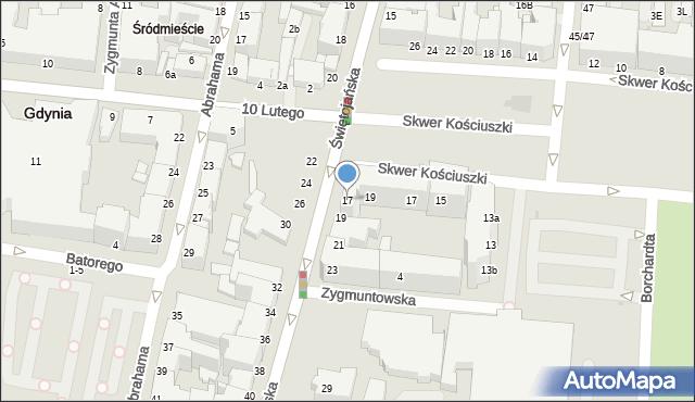 Gdynia, Świętojańska, 17, mapa Gdyni