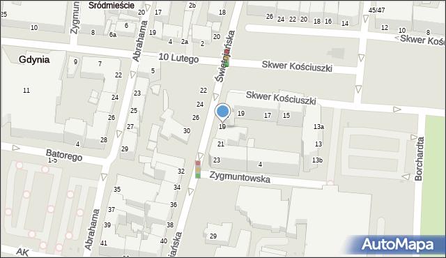 Gdynia, Świętojańska, 19, mapa Gdyni