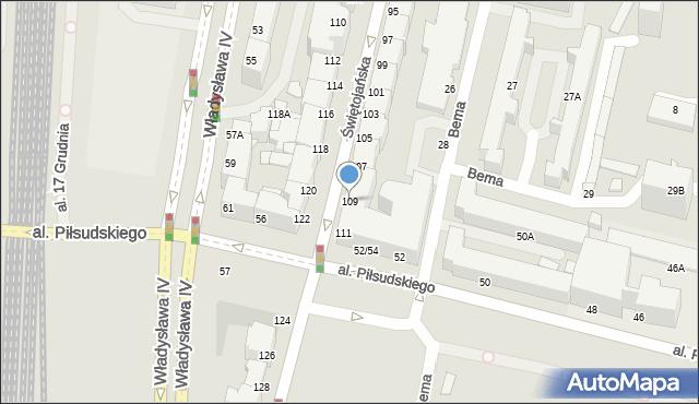 Gdynia, Świętojańska, 109, mapa Gdyni