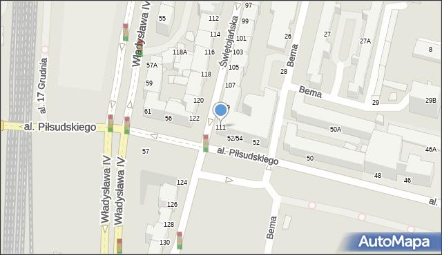 Gdynia, Świętojańska, 111, mapa Gdyni
