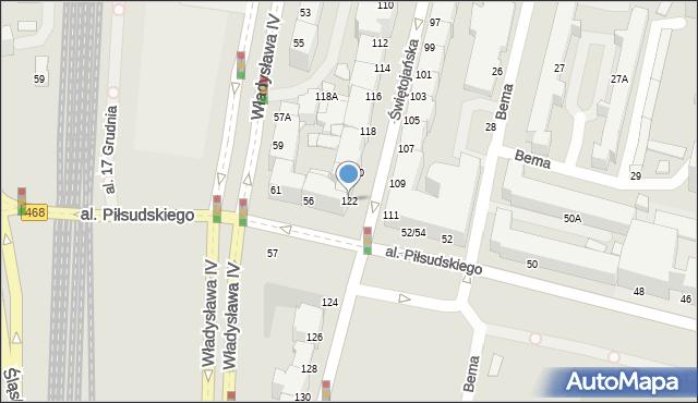Gdynia, Świętojańska, 122, mapa Gdyni