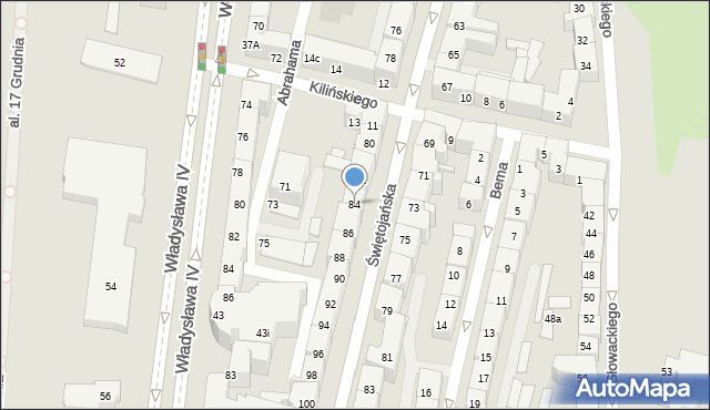 Gdynia, Świętojańska, 84, mapa Gdyni