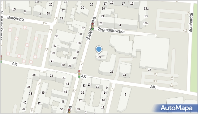 Gdynia, Świętojańska, 29, mapa Gdyni
