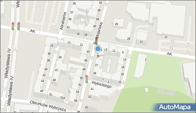 Gdynia, Świętojańska, 35, mapa Gdyni