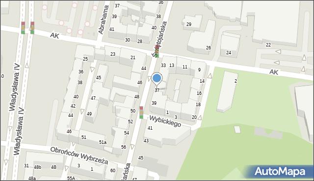 Gdynia, Świętojańska, 37, mapa Gdyni