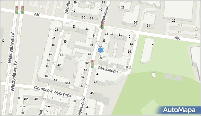 Gdynia, Świętojańska, 39, mapa Gdyni