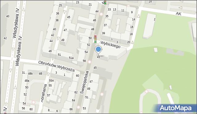 Gdynia, Świętojańska, 43i, mapa Gdyni