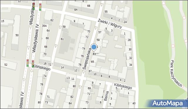Gdynia, Świętojańska, 63, mapa Gdyni