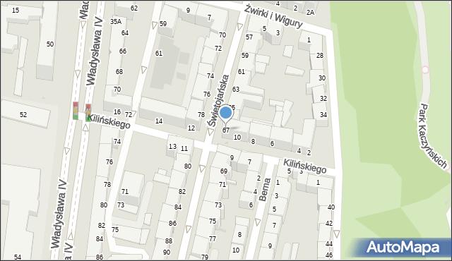 Gdynia, Świętojańska, 67, mapa Gdyni