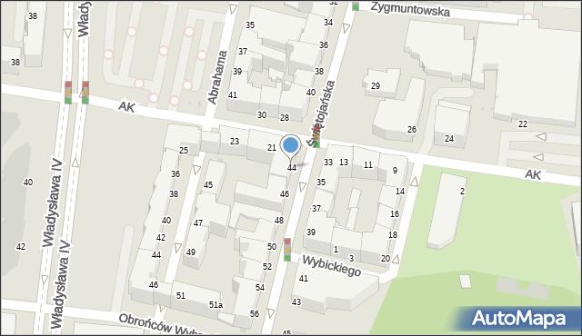 Gdynia, Świętojańska, 44, mapa Gdyni