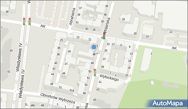 Gdynia, Świętojańska, 46, mapa Gdyni