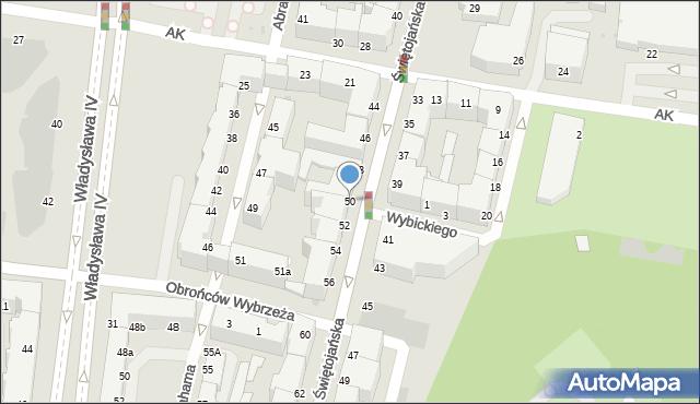 Gdynia, Świętojańska, 50, mapa Gdyni