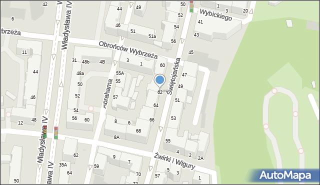 Gdynia, Świętojańska, 62, mapa Gdyni