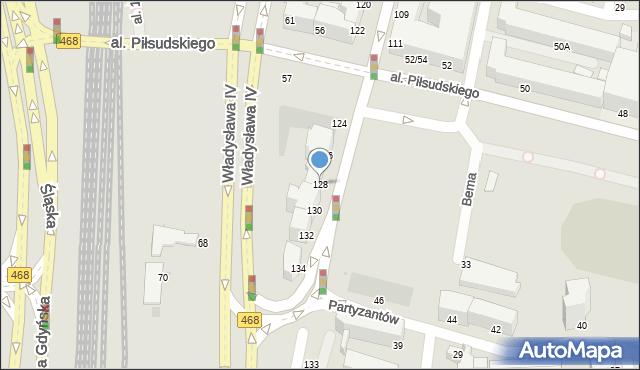 Gdynia, Świętojańska, 128, mapa Gdyni
