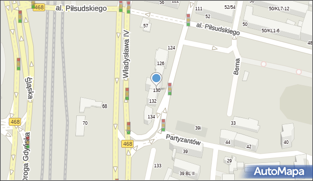 Gdynia, Świętojańska, 130, mapa Gdyni