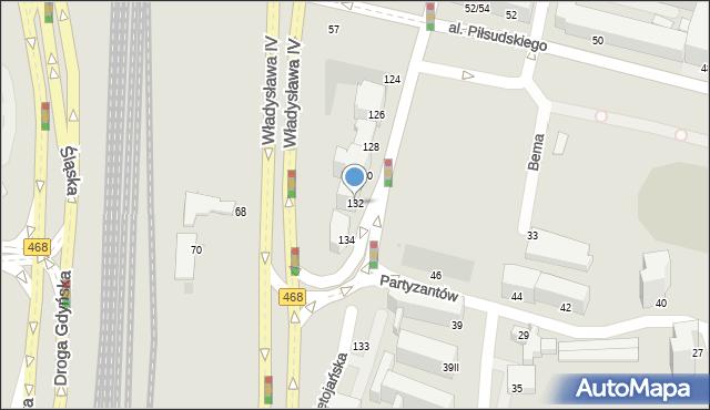 Gdynia, Świętojańska, 132, mapa Gdyni