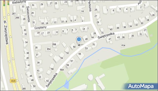 Gdynia, Świętopełka, 48, mapa Gdyni
