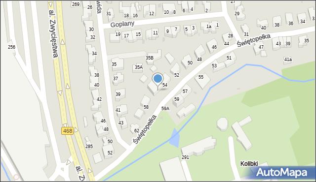 Gdynia, Świętopełka, 56, mapa Gdyni
