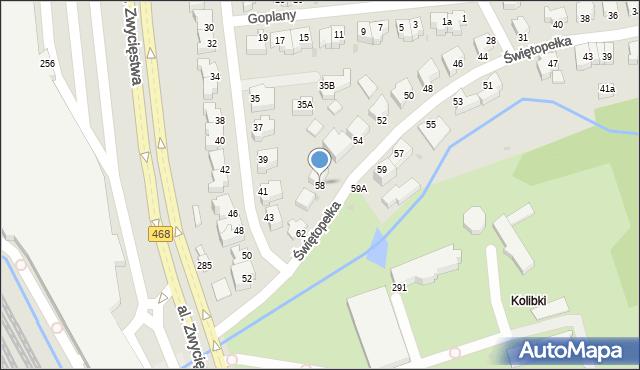 Gdynia, Świętopełka, 58, mapa Gdyni