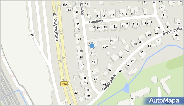 Gdynia, Światowida, 37, mapa Gdyni