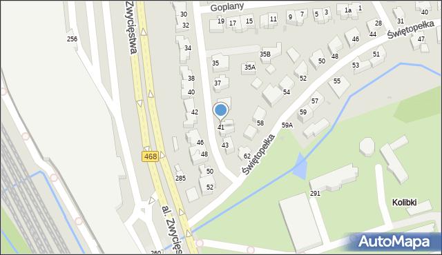 Gdynia, Światowida, 41, mapa Gdyni