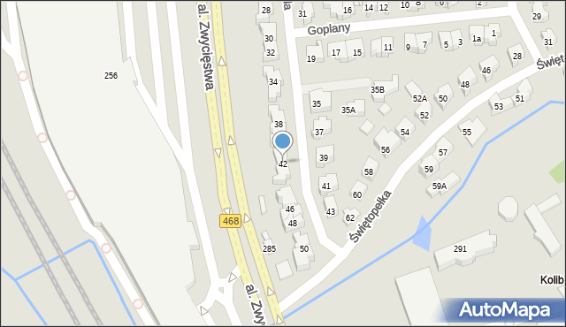 Gdynia, Światowida, 42, mapa Gdyni