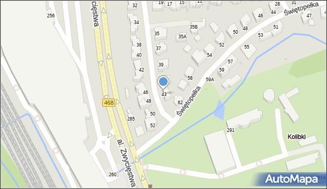 Gdynia, Światowida, 43, mapa Gdyni