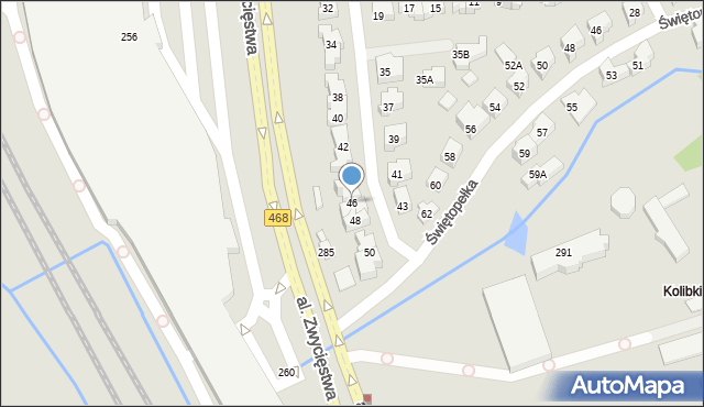 Gdynia, Światowida, 46, mapa Gdyni